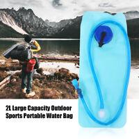 2L Water Bladder Bag Hydration Backpack System Camelbak Pack Hiking & Camping