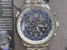NWT Citizen AT0361-57L Eco-Drive Chronograph Men's Silver Tone Watch MSRP $350