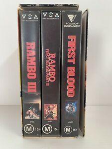 The RAMBO Collection VHS Vintage Video Box Set x 3 First Blood, Part II, III