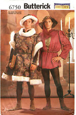 Butterick 6750 Mens Historical Medieval Renaissance Costume Sewing Pattern XS-L