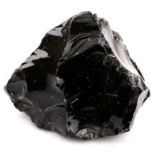 "1""-1.2 Rough Natural Black Obsidian Gemstone Large size Sold By 1pc RS043-1"