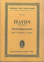Haydn ~ Streichquartett G Dur Op. 33 No. 5 ~ Taschenpartitur