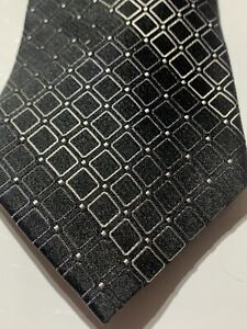 "Alfani Mens Black 3"" Kimble Silk Blend Professional Neck Tie  Geometric T13"