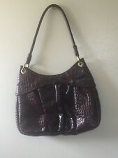 Italian Leather ~ Michael Rome Designs ~ Croco Embossed Tote, Bag, Made In Italy