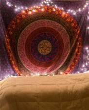 Hippie Bohemian Twin Size Tapestry Indian Decor Wall Hanging Bedding Bed Sheet