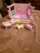 My Little Pony Baby Nursery Room with Accessories Cradle Mobile Bath tub Horse