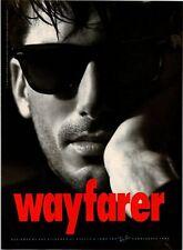 1991 VINTAGE 8X11 PRINT AD FOR RAY-BAN WAYFARER Sunglasses DESIGNED RAY STEGEMAN