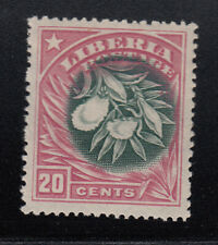 Liberia # 120a Mint Inverted Center Flora Pepper Plant 1909 Issue