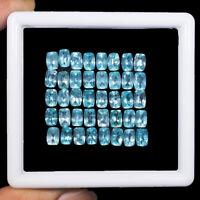 VVS Natural Apatite 40 Pcs 6mm/4mm Cushion Cut Neon Blue Super Quality Gemstones