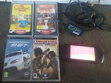 Sony PSP STREET E1003 Charcoal Black Plus 4 Games Bundle SIMPSONS.WORMS.