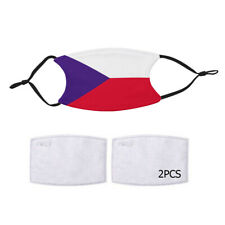 Reusable Face Mask 2 Filter Czech Republic Flag Country Pride Patriotic National