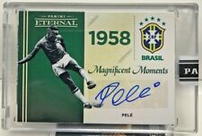 Pele 2018 Panini Eternal Soccer Magnificent Moments GREEN Autograph Auto #d 1/10