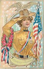 Nash Embossed Postcard Decoration Day Girl Soldier Uniform Daughter of Regiment