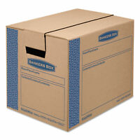 Bankers Box SmoothMove Prime Small Moving Boxes 16l x 12w x 12h Kraft/Blue 10
