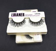 1Pair Real Mink Natural Black False Eyelashes Eye Lashes Extension Makeup AU^