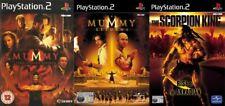 Momia Tumba del Dragón Emperador & la momia devoluciones y Scorpion King PS2 PAL