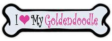Pink Dog Bone Shaped Magnet - I Love My Goldendoodle - Cars, Refrigerators