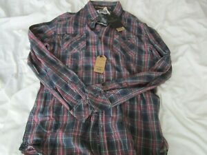 Scotch & Soda mens XXL plaid long sleeve button shirt new