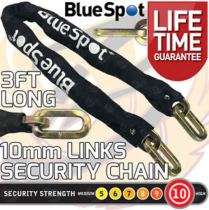 HEAVY DUTY Security Chain 10mm x 3ft Hardened Steel Motorbike Chain Square Links