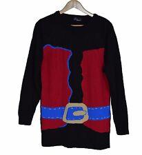 Womens Novelty Christmas Jumper UK Size 16/18 Santa Suit