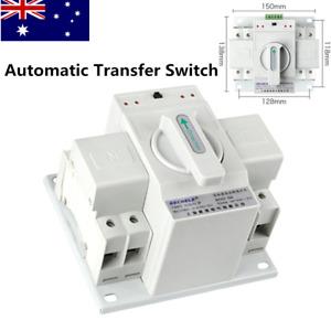 63A 50HZ/60HZ Dual Power Automatic Transfer Switch 220V Auto Change-Over Switch