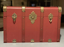 The American Girl Collection Three Latch Trunk Burgundy Retired Rare Original