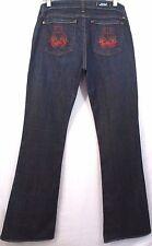 Rock & Republic Jeans Womens Misses Size 31 ROTH Flare Stretch Denim Inseam 35