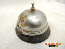 """HOTEL FRONT DESK BELL-""""ORDER UP!"""" BELL-RUSTY, DUSTY, USED & DISTRESSED-AS IS!"""