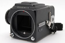 N.Mint+++ Hasselblad 500 CM C/M Black Body, A12 Film Back, Strap from Japan #s19