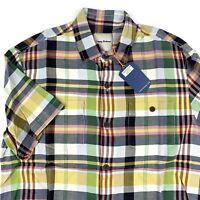 Tommy Bahama Mens Camp Shirt Casa Plaida Micro Chip 100% Silk T317726 New Medium