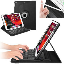 "For iPad 7th Gen 10.2"" 2019 Fintie 360 Rotating Keyboard Case with Pencil Holder"