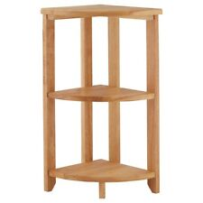 Premier Housewares 30x30x60cm 3 Tier Corner Shelf Unit Tropical Hevea Wood