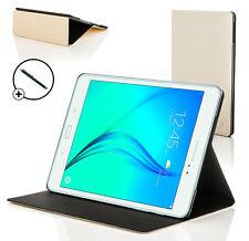 pelle bianca SMART CUSTODIA COVER per Samsung Galaxy Tab A 9.7 T550 + STILO