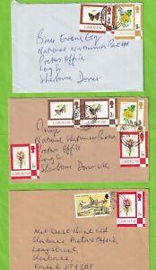 JJJ4383 Gibraltar 5 different stamped  British Fleet Mail cds 1980s covers UK