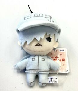 Cells at Work Mascot Small Plush Toy Doll Angels Style White Blood Cell AMU10402