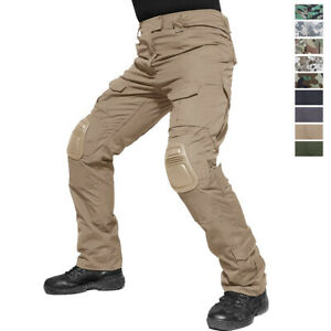 Tactical Men's Army Combat Pants Outdoor Hiking Commando Trousers with Knee Pads
