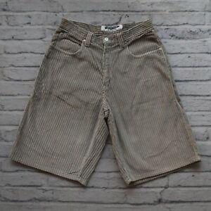 Vintage 90s Anchor Blue Corduroy Shorts Size 31