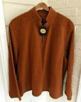 Life Is Good Micro Fleece 1/4 Zip Pullover Classic Fit Men Rust M Retail $68