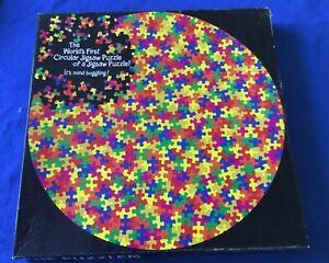 Springbok Circular Jigsaw Puzzle The Puzzler 500 Pc PZL6500 Missing One EUC VTG
