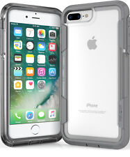 Pelican Voyager iPhone 6S Plus / 7 Plus Rugged Case w/Belt Clip Holster CLR/GRY