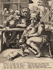 GOLTZIUS MANDER DUTCH BAGPIPE FILLED OLD ART PAINTING POSTER PRINT BB5531A