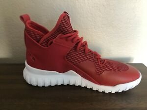 NEW Adidas Tubular X S77842 Cool Red White Trainers Men's Size 8