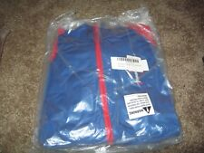 TEXAS RANGERS FULL ZIP BLUE JACKET STITCHES GIRLS L SEWN NEW WITH TAGS FREE SHIP