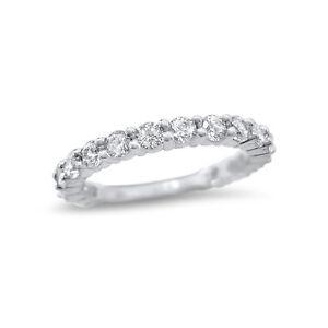 Forever ONE Moissanite wedding ring 14k White Gold 17 stone 1 CTW