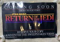 Rare Coming Soon STAR WARS The Return Of The Jedi 1986 Poster CBS Fox 38x25