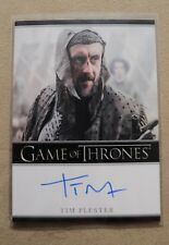 GAME OF THRONES SEASON 7 - TRADING CARD TIM PLESTER AUTOGRAPH CARD