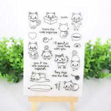 Decorative Clear Cat Transparent Stamp DIY Crafts Silicone Rubber Scrapbookin
