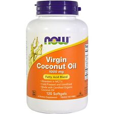 Now Foods Virgin Coconut Oil - 120 - 1000mg Softgels - Beneficial Fatty Acids