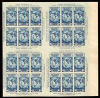 768 Block 24 (4 panes) Souvenir Sheet Farley Special Printings. MNH