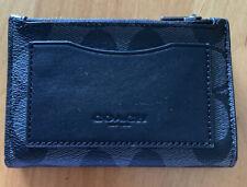 Coach F78673 Men's Leather Slim Bifold Zip Card Wallet QB/Charcoal NWT (MCL)